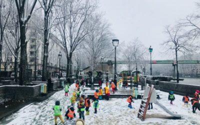 Ce matin, Paris, couvert sous la neige…